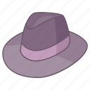 fedora, felt, gangster, hat, headwear, trilby icon