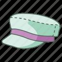 busboy, cap, captain, driver, field, hat, marine