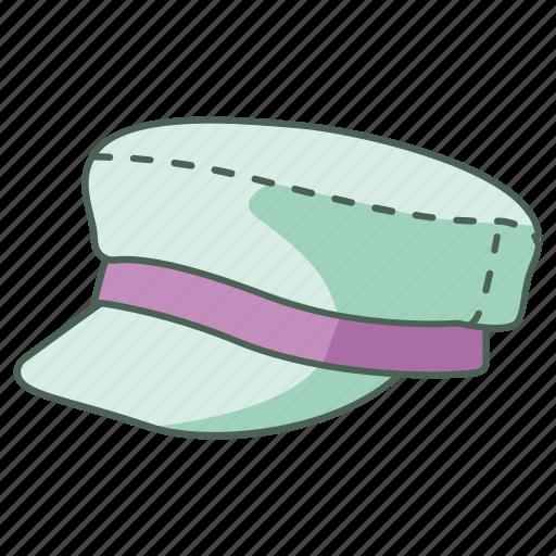 busboy, cap, captain, driver, field, hat, marine icon