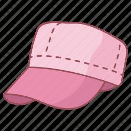 cap, fashion, field, hat, headwear, round, soldier icon
