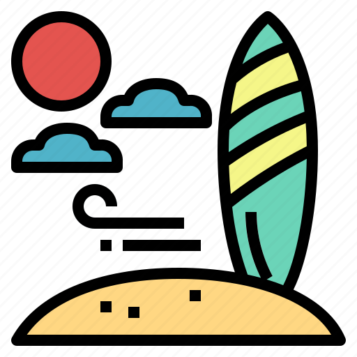 beach, competition, sports, surfboard icon