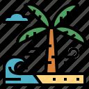 beach, hawaii, nature, summer icon