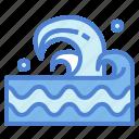 beach, nature, sea, wave icon
