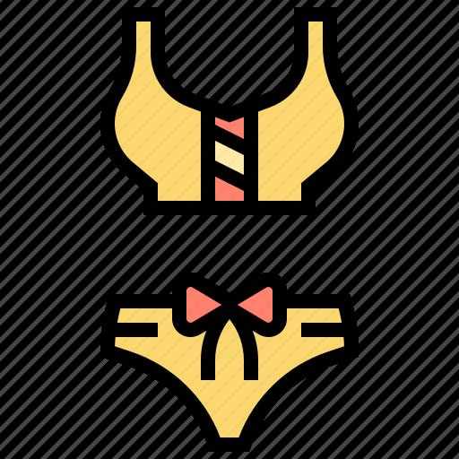 beach, bikini, underwear, uniform icon