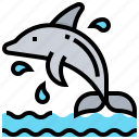 animal, dolphin, fish, sea icon