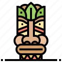 hawaii, hawaiian, statue icon