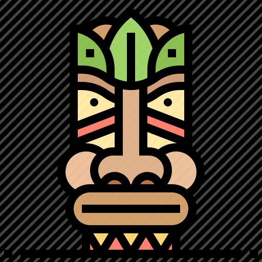 hawaii, hawaiian, statue icon