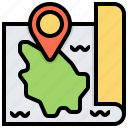 hawaii, location, map, navigation, pin icon