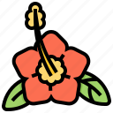 flora, flower, hawaii, mugunghwa icon