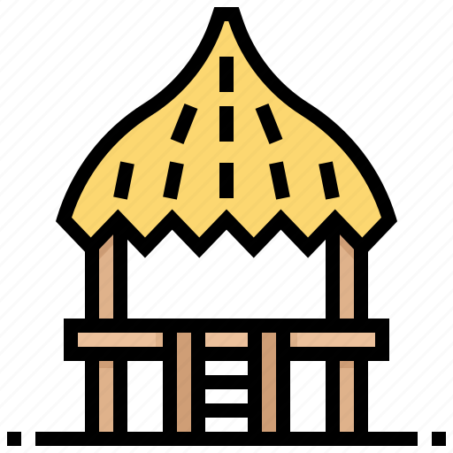 building, cottage, hawaii, home, house, hut, pavilion icon