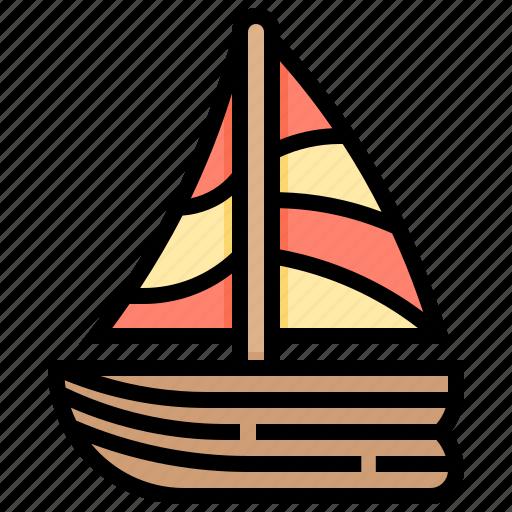 boat, sailing, ship, transport, vehicle icon