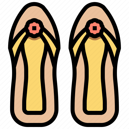 hawaii, sandals, sea, shoes icon