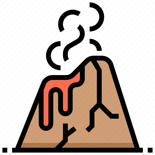 hawaii, landscape, mountain, volcano icon