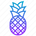 fruit, hawaii, pineapple, tropical icon