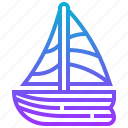 boat, sailing, ship, transport, vehicle icon