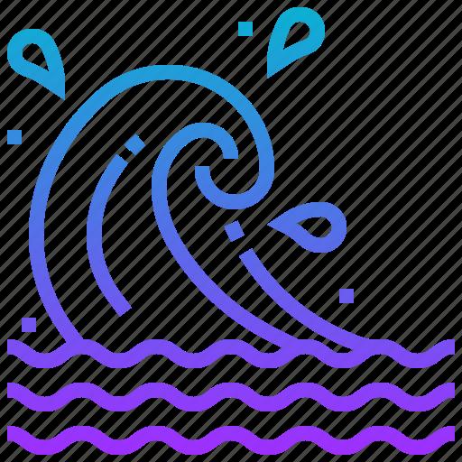 hawaii, sea, vacation, wave icon