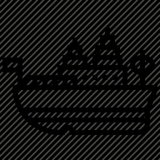 boat, missouri, ship, transport, uss, vehicle icon