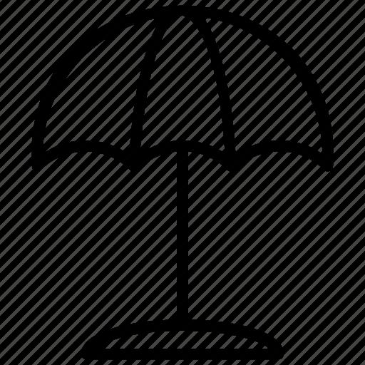 beach equipment, beach umbrella, protection, sun shade, umbrella icon