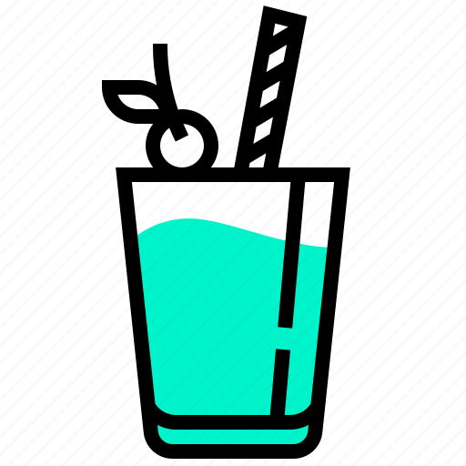 beverage, cocktail, drink, hawaii, water icon