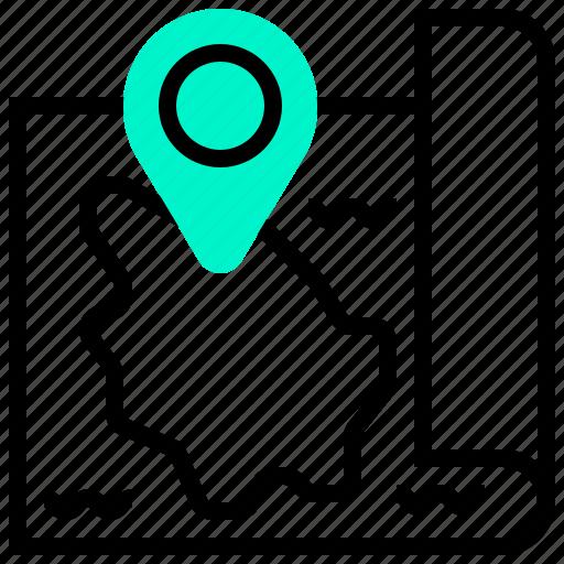 hawaii, location, map, navigation, pin icon