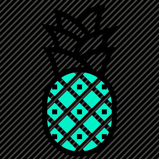 fruit, hawaii, pineapple, tropical icon