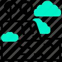 hawaii, landmark, valley, waipio icon