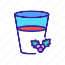 berry, food, full, glass, half, hawthorn, juice icon