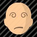 avatar, dizzy, face, vertigo icon