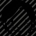 avatar, female, girl, profile, short hair, user, woman icon