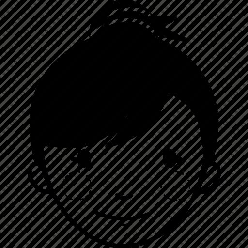 avatar, bun hair, girl, interaction, interface, profile, user icon