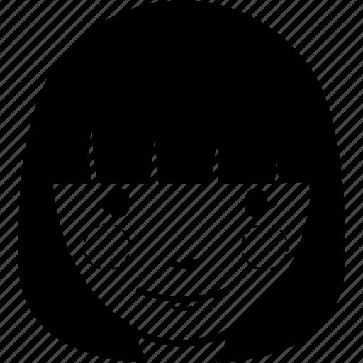account, avatar, face, female, girl, user, woman icon
