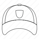 cap, hat, line, outline, thin, winter, winter hat icon