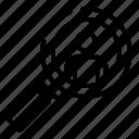 business, logo, magnifier, man, person, recruitment, under icon