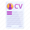 business, computer, cv, hand, paper, person