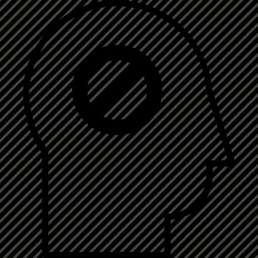 ban, ban person, ban user, head, remove person, remove user, user icon