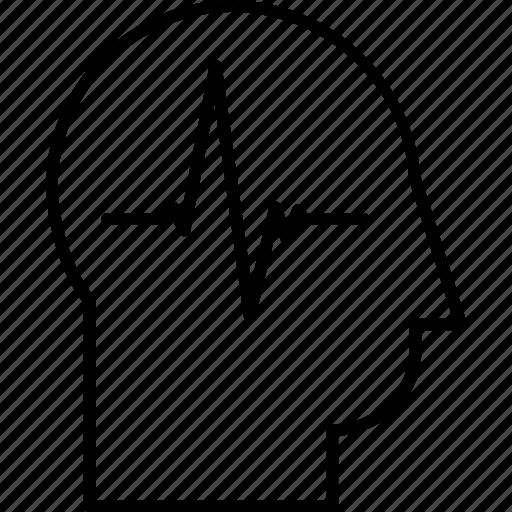 customer health, head, health, health care, heartbeat, user health, vital signs icon