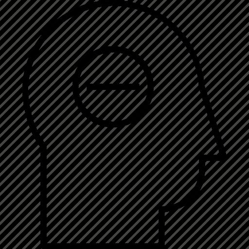 minus sign, profile, remove customer, remove profile, remove user, remove user data icon