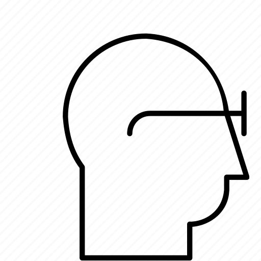 glasses, head, intelligent, profile, smart, smart customer, smart user icon
