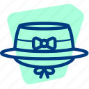 cap, girl, hat, ladies, ribbon, woman icon