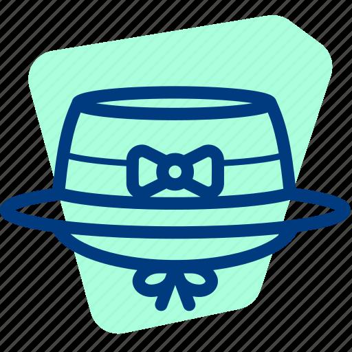 Cap, girl, hat, ladies, ribbon, woman icon - Download on Iconfinder