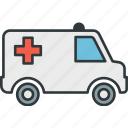 aid, ambulance, care, emergency, first icon