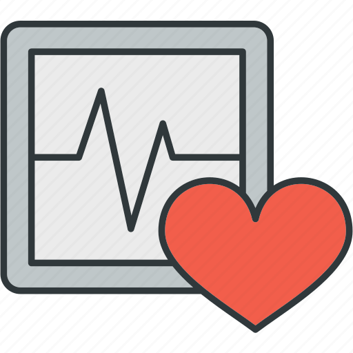 Ecg, heart, pulse, rate icon - Download on Iconfinder