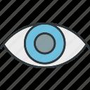 eyes, eyesight, look, see icon