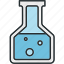 flask, test, tube, lab