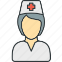 female, nurse, woman icon