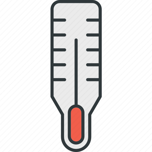 body, temperature, thermometer icon