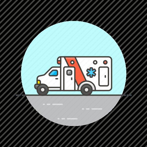 ambulance, care, emergency, health, help, hospital, medical, vehicle icon
