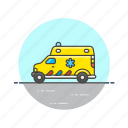 ambulance, care, emergency, health, help, hospital, medical, vehicle icon