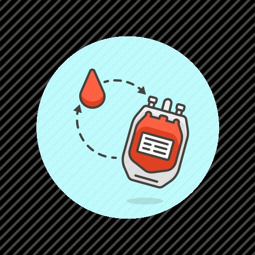 blood, donate, health, hospital, supply, transfusion, type, unit icon