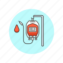 blood, health, life, red, supply, transfusion, unit icon